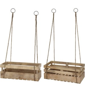 Hanging Crate, Mango wood, Set/2 On sale 30 percent off!