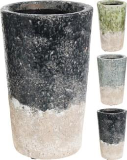 095600780 - Tall Ceramic Flower pot, 3 Asst