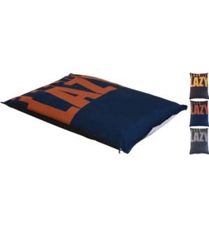 """491190440-LAZY Dog Pillow, 3Asst, 42.5x5 inch, Polyester"""