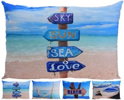 HZ1001520-Beach Life Rect. Cushions, 4/Asst, 16x24 inches -*Last Chance* FD