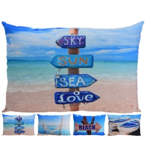 """Beach Life Rect. Cushions, 4/Asst, 16x24 inches -*Last Chance* On sale 30 percent off!"""