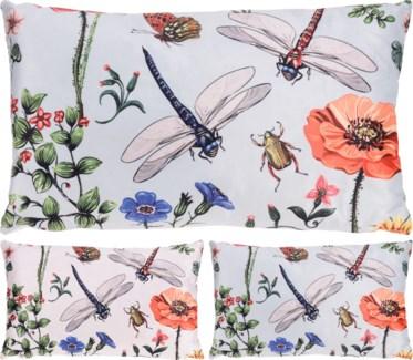 HZ1908840-Botanica Rect. Cushion 2/Asst, Polyester, 20x12x.4 in