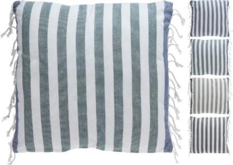 A35821030-Breton Stripe Cushion 4/Asst, Cotton, 18 in