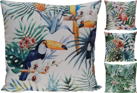 HZ1006130-Tropicana Cushion, 4/Asst, Polyes18 in
