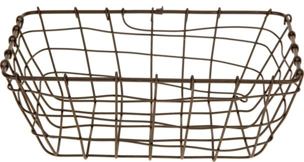 437905010. Grey Basket Metal 11.2x7.7x4.1inch. (units/inner:48. units/outer48)