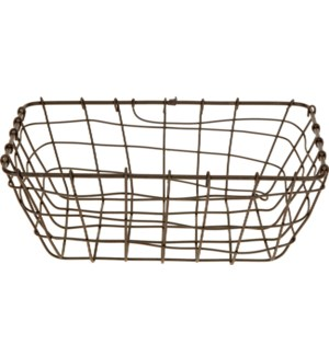 437905010. Grey Basket Metal 11.2x7.7x4.1inch. (units/inner:48. units/outer48) *LAST CHANCE!*
