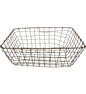 437905030. Grey Basket Metal 15.2x11.2x5.3inch. (units/inner:24. units/outer24) FD11/30 On sale 20 p