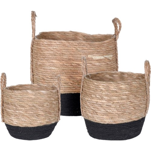 """PABLO BASKET SET SPABLO BASKET SET STRAW 3 SIZES, LC"""