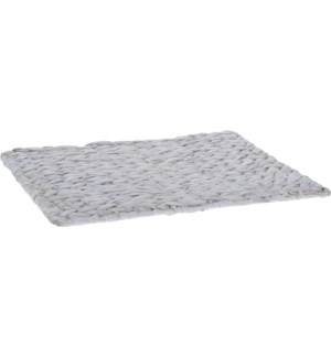 449200800 White Waterhyacint Placemat, 17x13.4 in.