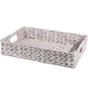 449200920 White Woven Serving Tray Basket
