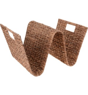 449000600-Magazine Holder, Water Hyacinth, 21x14x12 in