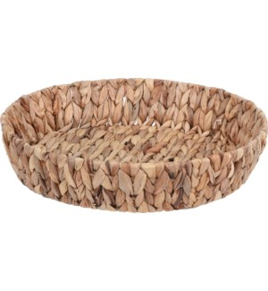 449200640-Round Table Basket, Water Hyacinth 15x3 inch