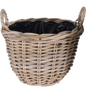 J11600130-Lined Kubu Basket, 14x10 in