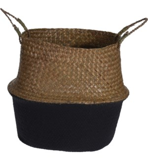 HZ1777220-Rice Basket w/Black, Large 15x12.5 inch