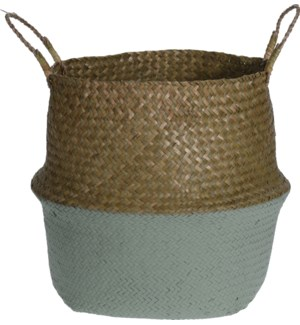 HZ1777130-Rice Basket w/Green, Large, 15x12.5 inch