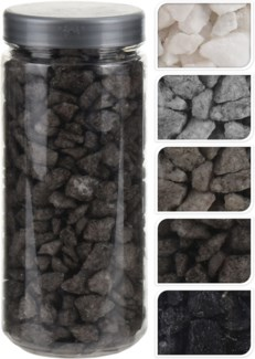 HZ1930080-Decoration Stones 5/Asst, L, 2.6x2.6x6.2 in 750 Gr