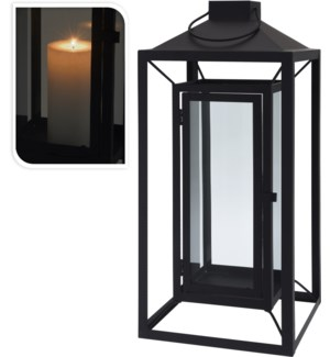 Floating Lantern LG, Metal, 8.7x8.7x20 inches - ON SALE 40 percent off