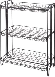 HX9000510 -  Shelf Rack 3 Tiers Metal, Black, 19x12x25 inches - ON SALE 50 percent off original pri