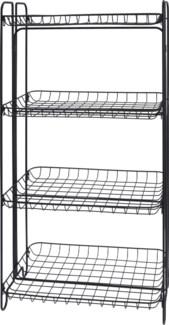 HX9000520 -  Shelf Rack 4 Tiers Metal, Black, 19x12x36 inches - LC FD - ON SALE 50 percent off ori