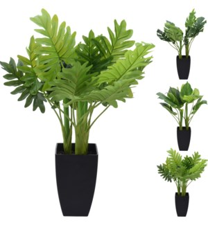 318000030-Artificial Tropical Plant, 3Asst. 26 inch