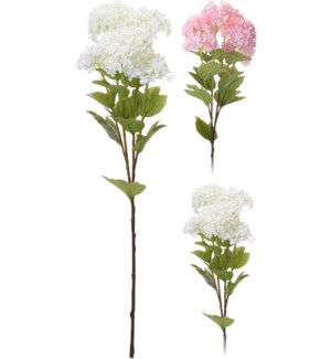 318800100-Artificial Viburnum Plant, 2Asst (light pink/cream), 7x7x24 inch