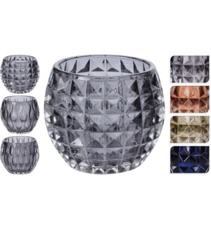 Tealight Holder Assorted Design & Colours, 3.9x3.9x3.3 On sale 30 percent off!