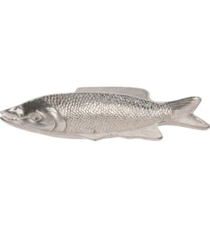 """A44321220-Decorative Fish Plate, Aluminum, 15.75x9x1.5 in*Not Suitable For Direct Food Contact*"""
