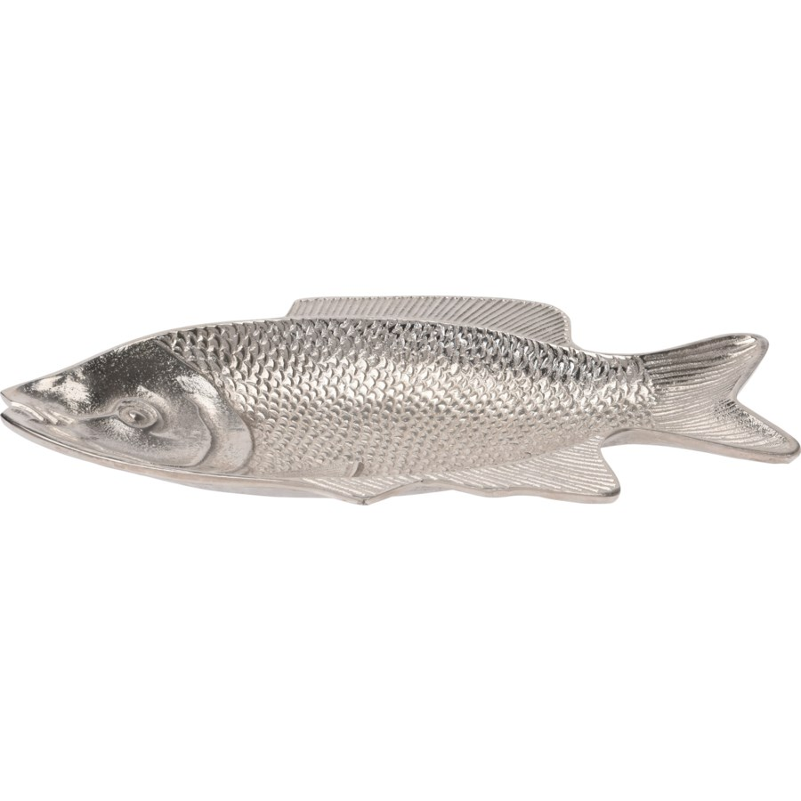 """""""A44321220-Decorative Fish Plate, Aluminum, 15.75x9x1.5 in*Not Suitable For Direct Food Contact*"""""""
