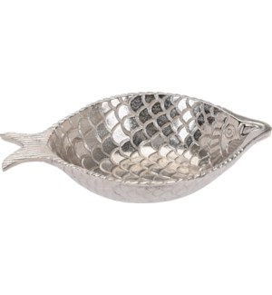 """A44321240-Decorative Fish Bowl, Aluminum, 11.4x7.5x2 in*Not Suitable For Direct Food Contact*"""