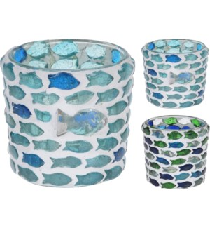 A44321370-Fish Mosaic Tealight
