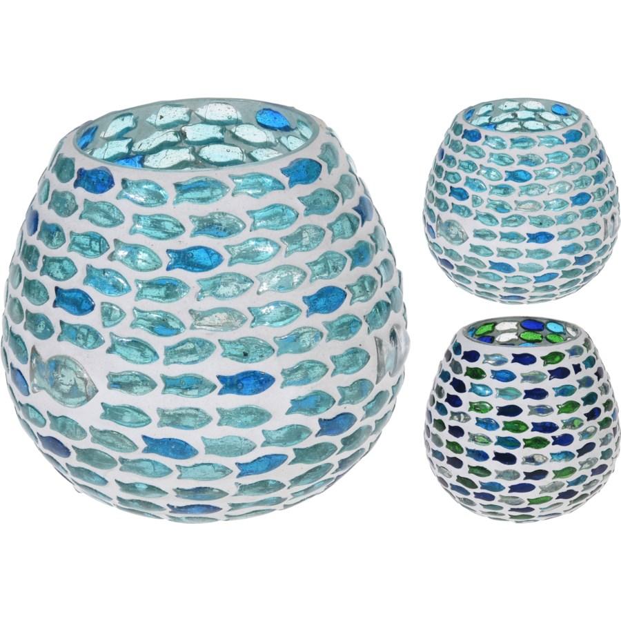 A44321400-Fish Mosaic Tealight