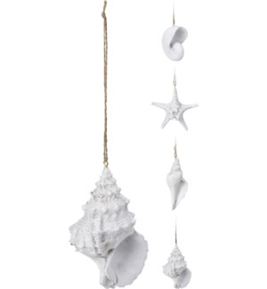 """""""Shell And Starfish On Hanger, Polystone"""""""