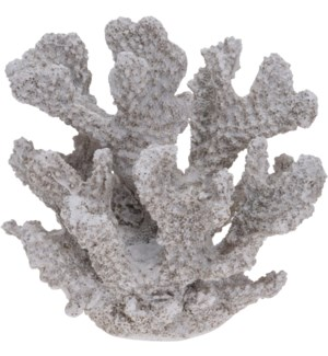 """252120340-Coral Decor S, Polystone, 4.5x3.7x4 in"""