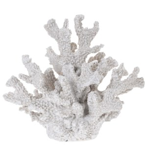 """252120350-Coral Decor M, Polystone, 8x6x7 in"""