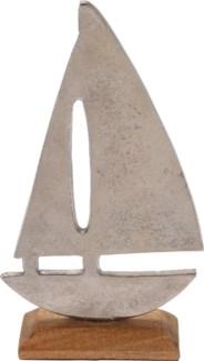 A44321510-Boat Statue, M, Aluminium, 5x2x9 in