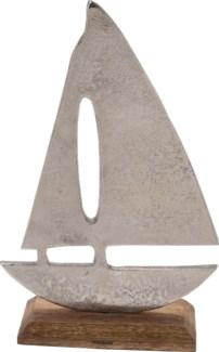 A44321520-Boat Statue, L, Aluminium, 7x3x11 in