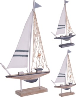 DH9109060-Sailing Boat A, 2/Asst, 14.5x9x2 in