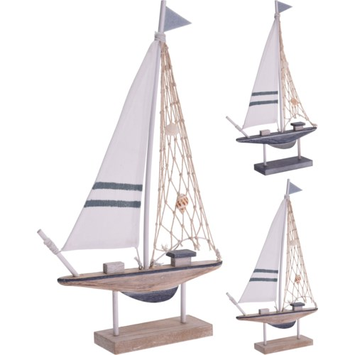 DH9109060-Sailing Boat, Small, 2/Asst, 14.5x9x2 in