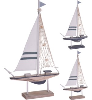 DH9109070-Sailing Boat, Medium, 2/Asst, 12x2x19 in
