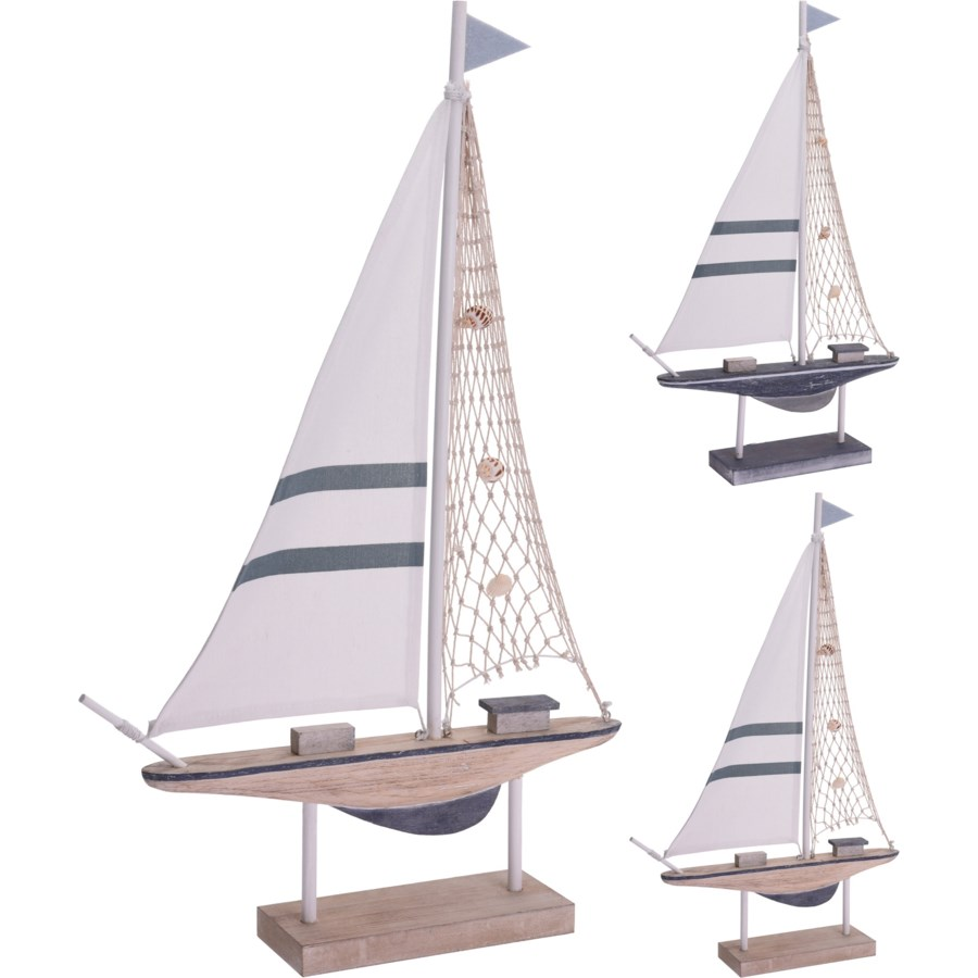 DH9109080-Sailing Boat, Large, 2/Asst, 15x3x24 in
