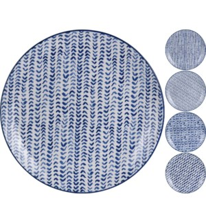 """DN1800250-Indigo Plates, 4/As"""