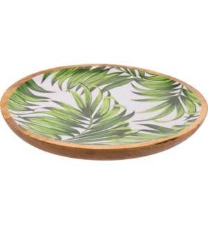 A44320490-Isla Leaf Round Tray  LC