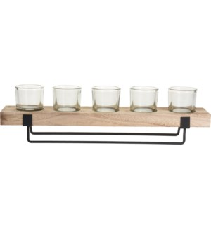 CC5056020 Candle Holder With Glass Votives