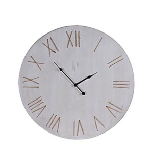 HZ1901660 Minimalist Clock, White Washed, 23.5 D On sale 25 percent off!