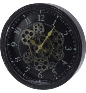 HX9900120 Rotating Gears Wall Clock, 14.6x2.7x14.6 in.