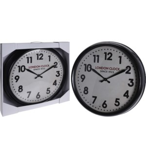 """Y50000020-Retro London Clock, Black, 24x4 inch"""
