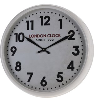 """Y50000030-Retro London Clock, White, 24x4 inch"""