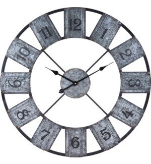 Y36901100 Rusty Metal Numbers Wall Clock