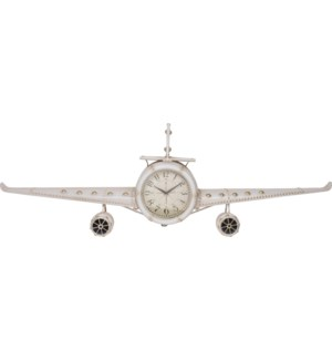 KLM000010 Airplane Clock White, Metal