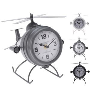 """""""Table Clock Metal Helicopter Model, 3Ass. Design"""""""